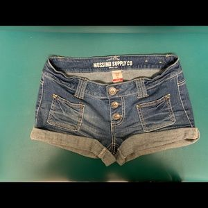 Mossimo supply co button fly jeans shorts